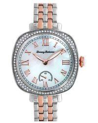 Tommy Bahama - 'lokelani' Crystal Bezel Cushion Bracelet Watch - Lyst