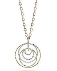 Colette Nicolai - 18k Three-gold Circle Pendant With Diamonds - Lyst