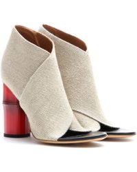Acne Studios Roza Open-Toe Ankle Boots - Lyst