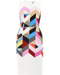 Preen Issy Geometricprint Crepe Dress - Lyst
