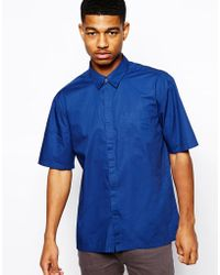 Asos Black Asos Short Sleeve Shirt - Lyst