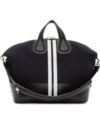 Givenchy Black Neoprene Striped Nightingale Bag - Lyst
