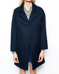 Helene Berman Single Button Swing Coat in Cotton - Lyst