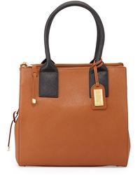 Badgley Mischka Jillian Bicolor Leather Tote Bag - Lyst