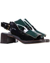 Marni Green Sandals - Lyst