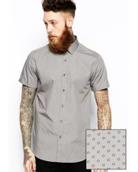 Asos Smart Shirt in Short Sleeve with Circle Print - Lyst