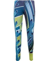 Mary Katrantzou Printed Predator Leggings Blue /Green - Lyst
