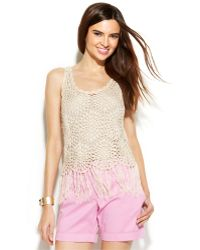 Inc International Concepts Crochet Fringe Tank - Lyst