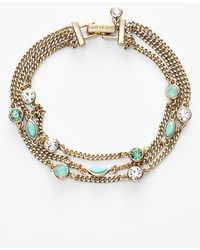 Givenchy Women'S Stone Three-Strand Bracelet - Gold/ Turquoise (Nordstrom Exclusive) - Lyst