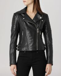 Reiss - Jacket - Topaz Quilted Leather Biker - Lyst