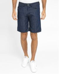DIESEL | Blue Raw Bustshort Shorts | Lyst