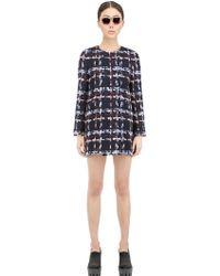 Lardini - Wool Blend Tweed Coat - Lyst