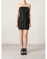Jay Ahr Studded Bandeau Dress - Lyst