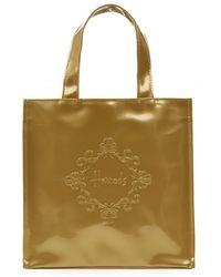 Harrods Small Embossed Logo Shopper Bag - Lyst