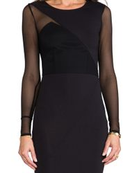 Donna Mizani Long Sleeve Splice Dress - Lyst
