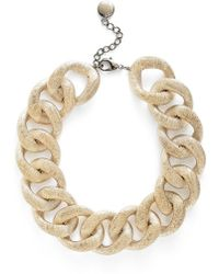 Pono - 'etched By Fire' Choker Necklace - Light Gold - Lyst