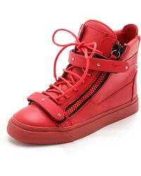 Giuseppe Zanotti Zipper London Sneakers  Red - Lyst