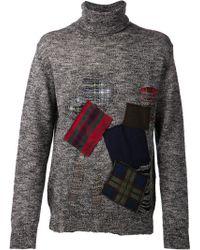 Junya Watanabe Patchwork Sweater - Lyst