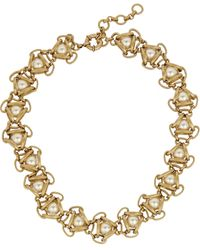 J.Crew Goldtone Faux Pearl Necklace - Lyst