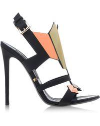 Gianmarco Lorenzi Sandals black - Lyst