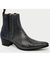 Jeffery West Metallic Chelsea Boots gray - Lyst