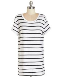 Sunny Girl Pty Lltd Simplicity On A Saturday Tunic In White Stripes white - Lyst