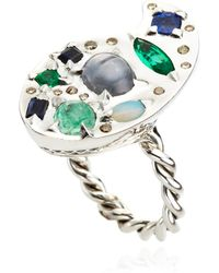 Sylvie Corbelin One Of A Kind Sapphire and Emerald Ring - Lyst