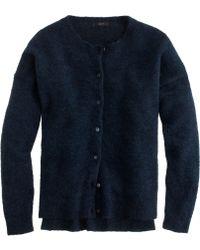 J.Crew Marled Mohair Cardigan Sweater - Lyst