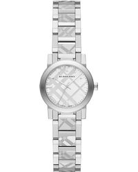 Burberry Stainless Steel Check Etched Bracelet Watch/26Mm - Lyst