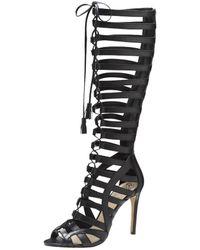 Vince Camuto Olivian Leather Sandals black - Lyst