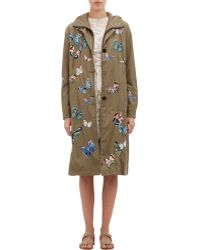Valentino Butterfly Appliqué Long Anorak - Lyst