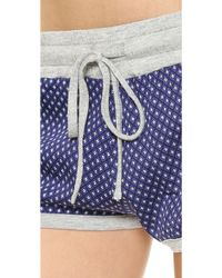 Splendid Boyfriend Blues Piped Boxers - Retro Dot - Lyst