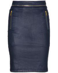 Burberry Brit - Coated Stretchdenim Pencil Skirt - Lyst