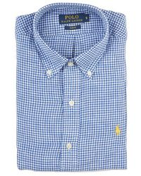 Ralph Lauren Blue Label Vichy Linen Slim Fit Shirt blue - Lyst