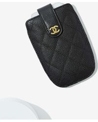 Nasty Gal - Vintage Chanel Quilted Leather Phone Case - Lyst