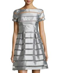 Muse Striped Fit-and-flare Cocktail Dress - Lyst