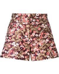 Giamba - Floral Jacquard Shorts - Lyst