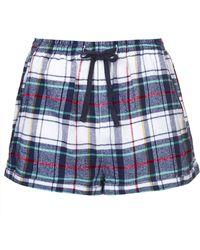 Topshop Check Pj Shorts - Lyst