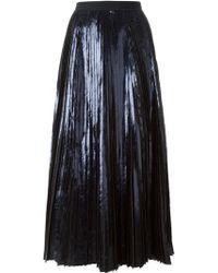 Proenza Schouler Pleated Foil Skirt - Lyst