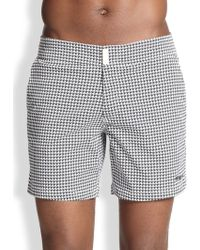 Vilebrequin Merise Houndstooth Swim Trunks - Lyst