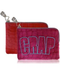 House Of Holland Crap Pouch Pink Calf Hair - Lyst