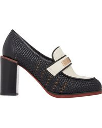 See By Chloé Basketweave Loafer Pumps - Lyst