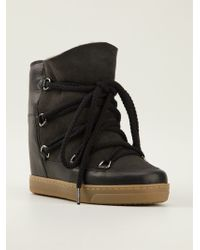 Isabel Marant Laceup Boots - Lyst