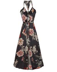 L'Agence Floral Print Maxi Dress - Lyst