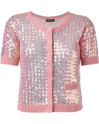 Twin Set | Sequin Embellished Cardigan | Lyst