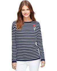 Brooks Brothers Supima Cotton Stripe Sweater - Lyst