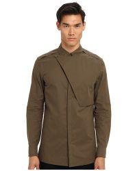 Helmut Lang Uniform Storm Flap Button Up - Lyst
