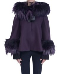Alexander McQueen Cape Jacket purple - Lyst