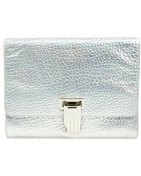 Opening Ceremony - 'nokki' Metallic Leather Clutch - Metallic - Lyst