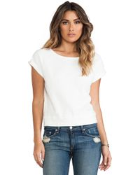 Textile Elizabeth and James - Short Sleeve Perfect Sweatshirt - Lyst